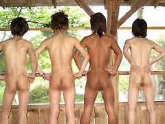 かずやの露天風呂SEX イケメン5人の入浴シーン